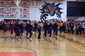 Police Officer Becomes Dancing Hero At High School