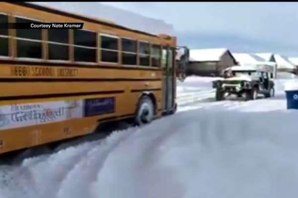 humvee rescue school bus