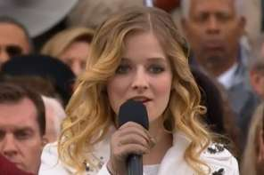 Jackie Evancho Sings The National Anthem At The Presendial Inaugeration
