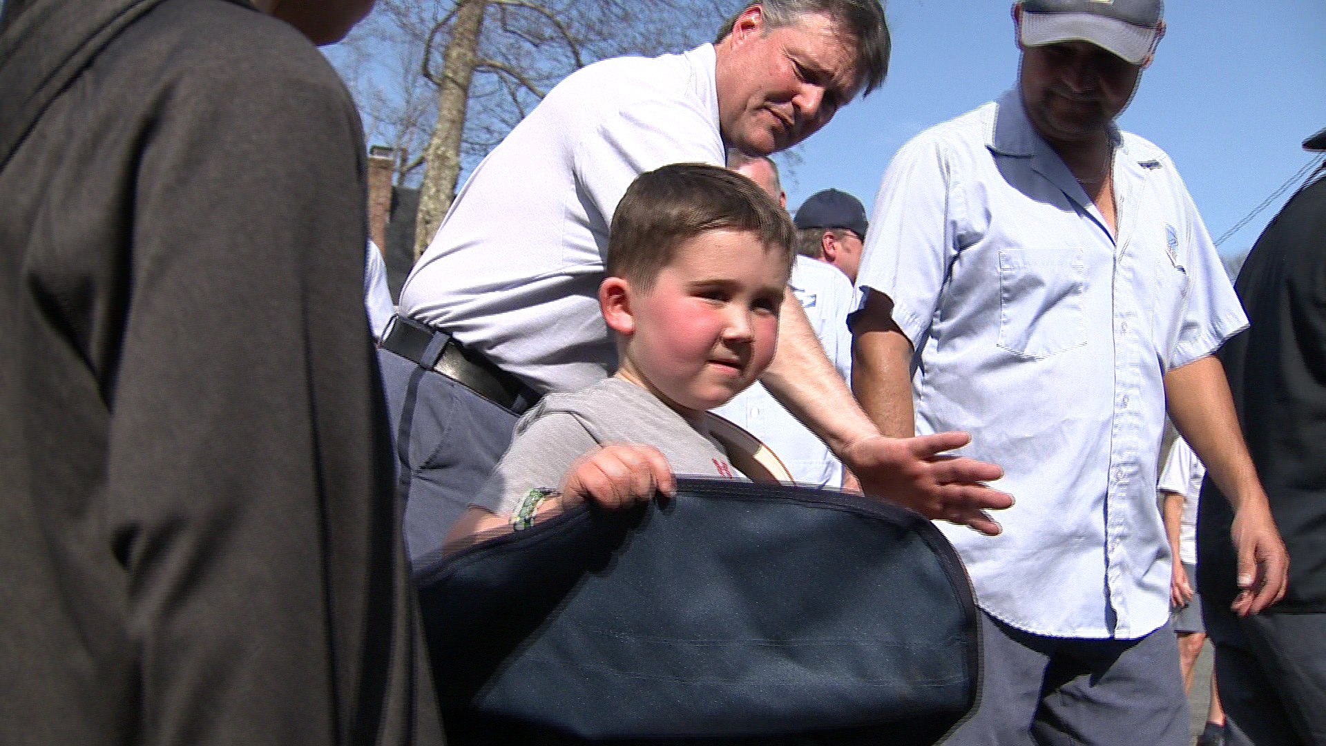 boy with brain tumor gets Convoy