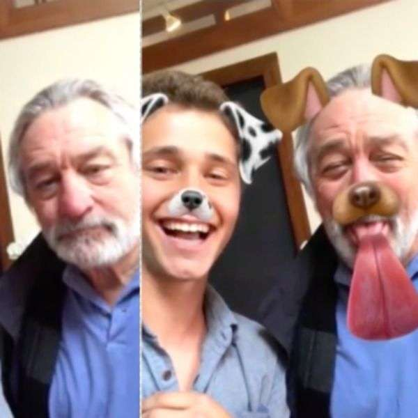 robert de niro gets schooled in snapchat