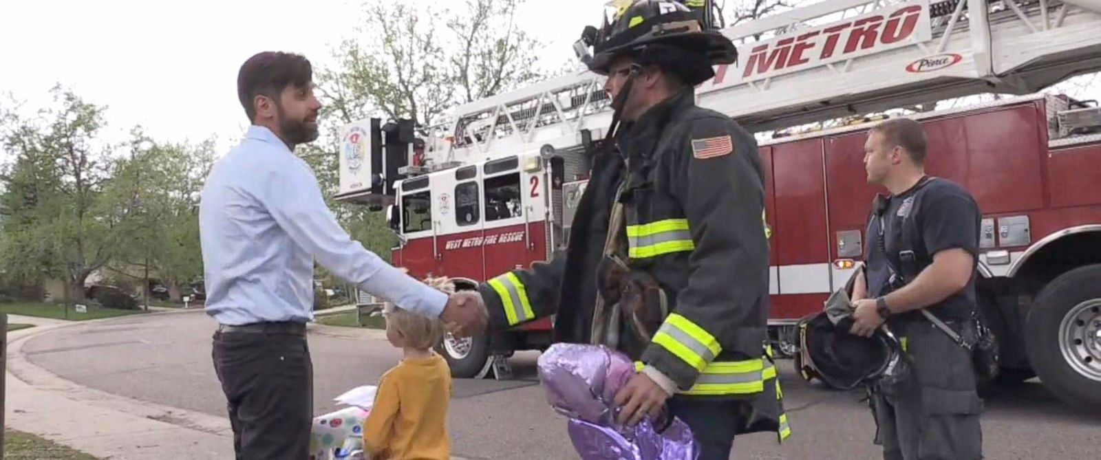 Firefighters Rescue Boy's Card For His Mom In Heaven
