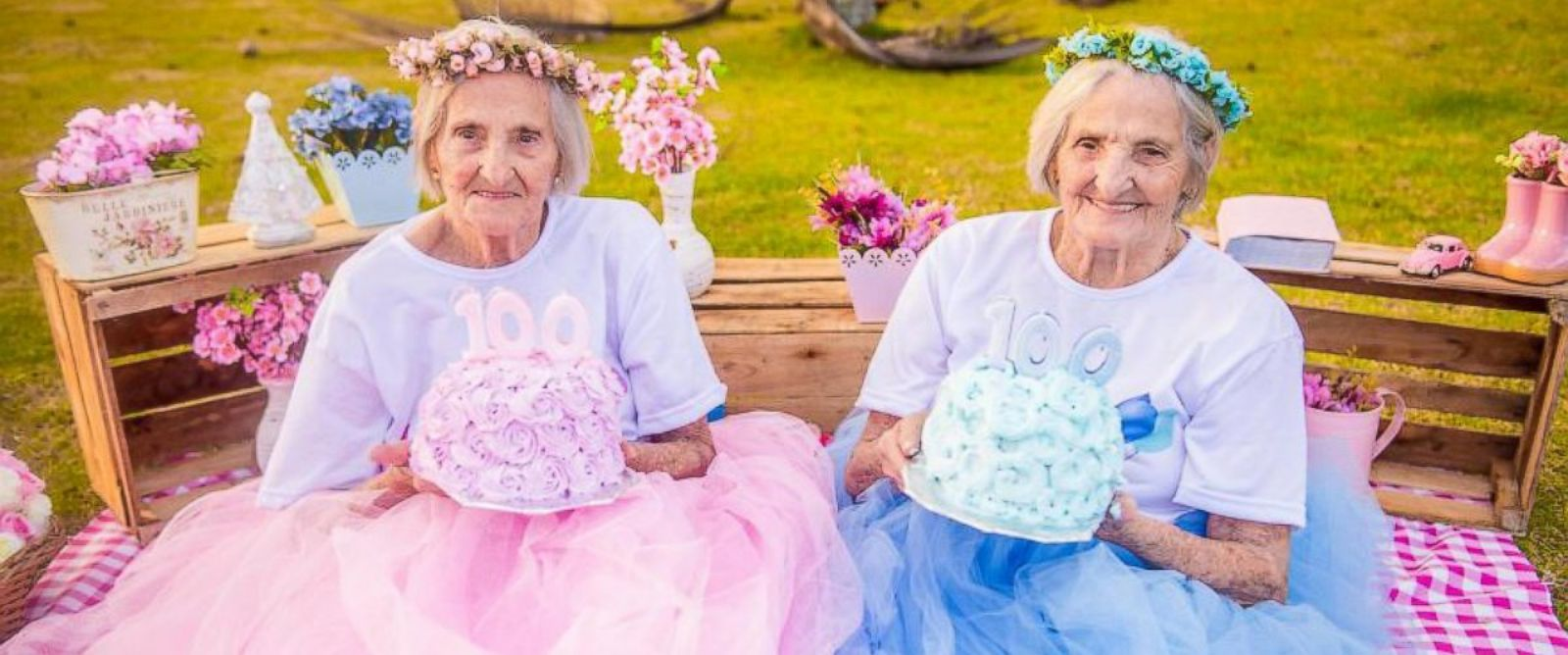 twins celebrate whimsical photoshoot