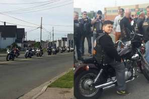 Bullied Kid Is Escorted To School By A Biker Gang