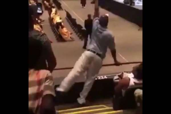 father excited at graduation