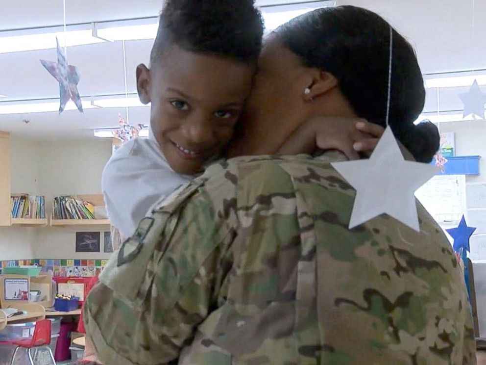 military-mom returns home
