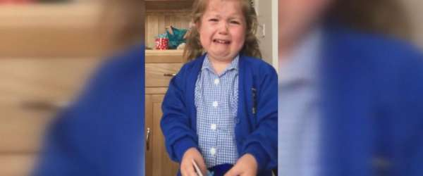 little girl cries baby brother