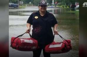 Pizza Hut Delivers Free Pizzas To Flood Victims