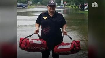 pizza hut flood delivery