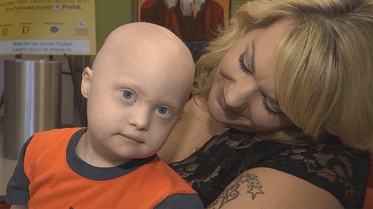 az mom and son with leukemia