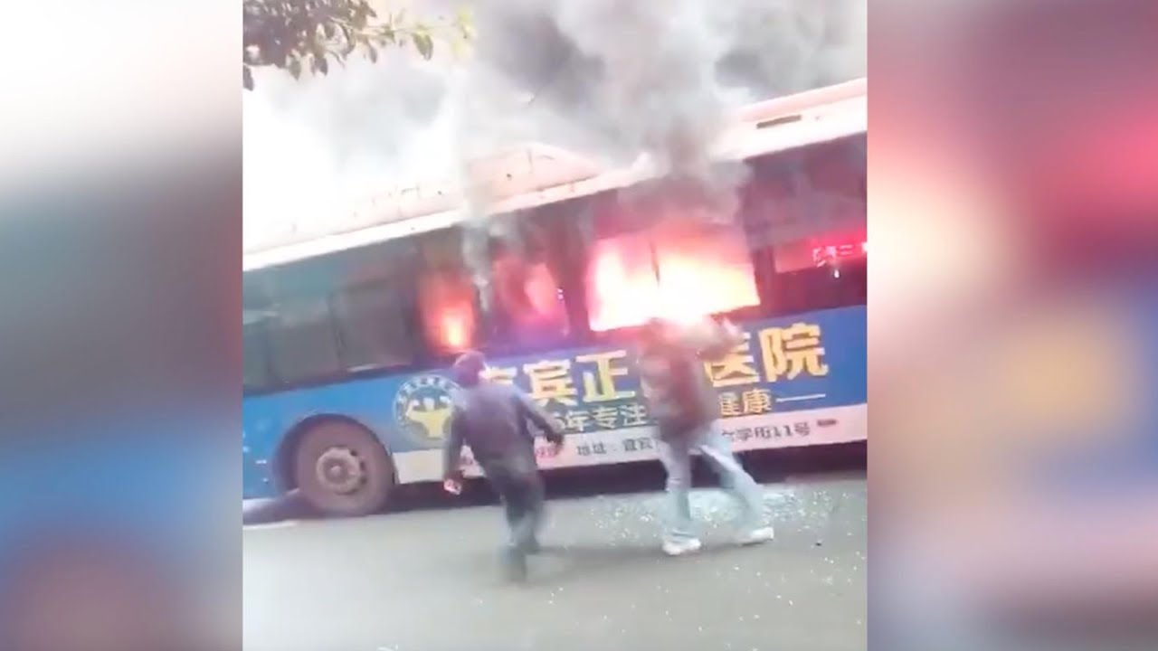 Good Samaritans Rescue People Trapped In Burning Bus