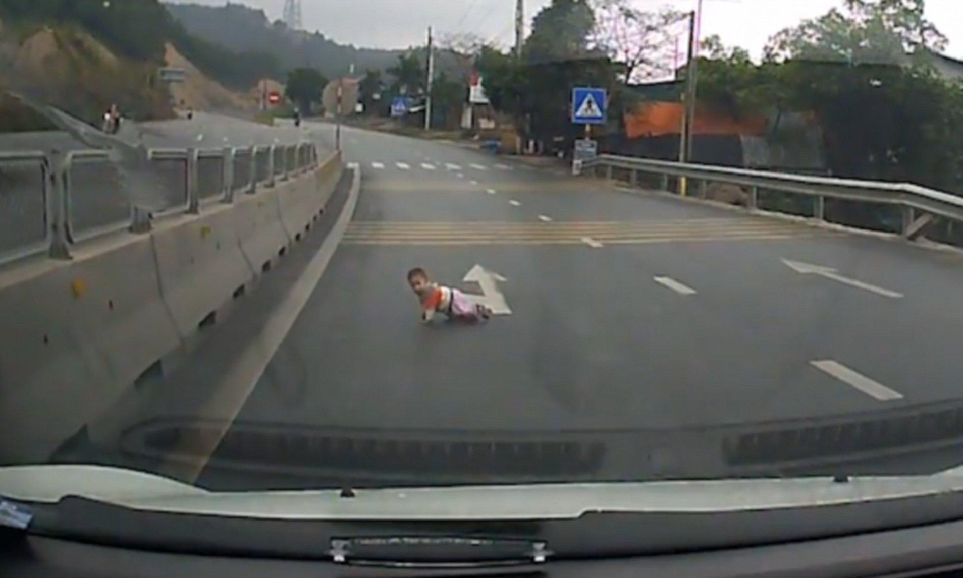 Baby Boy Crossing Street Is Saved By Good Samaritan