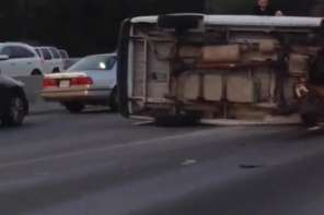 Samaritans Overturn Van On Highway