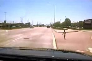Cop Rescues Toddler Wandering On Illinois Highway