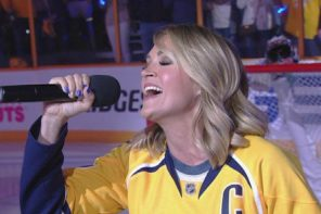 Carrie Underwood Sings National Anthem