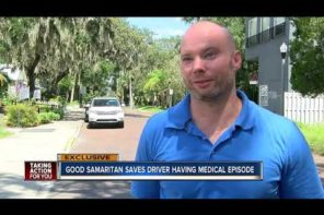 Samaritan Saves Driver With Seizure And Toddler In Back Seat