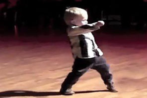 Two Year Old Dancing The Jive