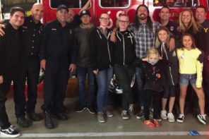 Dave Grohl Surprises Firefighters In The California Wildfires