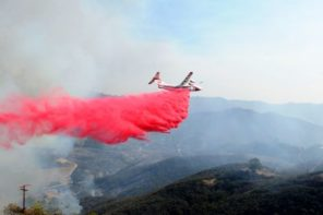 Plane Drops Fire Retardant On Flames In California Wildfire: Caught On Camera