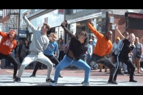 Three 80's Flash Mobs Hit A sleepy Seaside Town