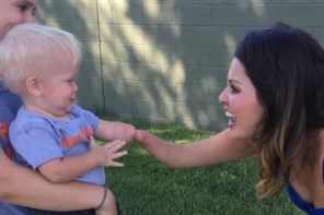 Toddler Hugs Woman With Same Limb Difference