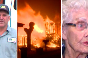 Sanitation Man Rescues Elderly Lady From Raging Inferno