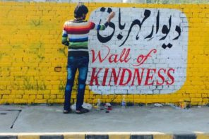 A Wall Of KIndness Is Making It's Way Around The World