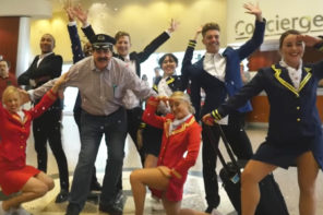 Pilot Is Greeted With Flash Mob For His Last Flight