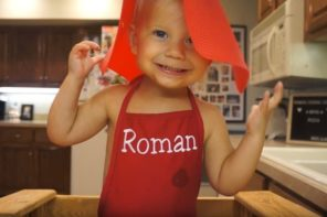 Roman: Cutest Two Year Old Baker Ever
