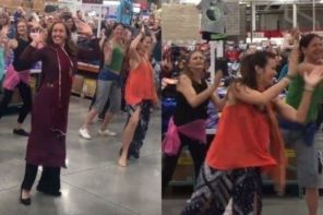 Bollywood Flash Mob Takes Over Costco In California