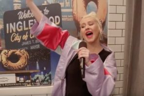 Christina Aguilera Surprises People By Singing At Donut Shop