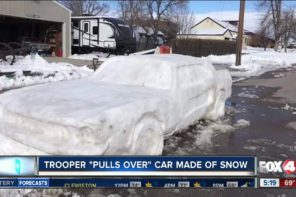 Trooper Pulls Over Car Made Of Snow