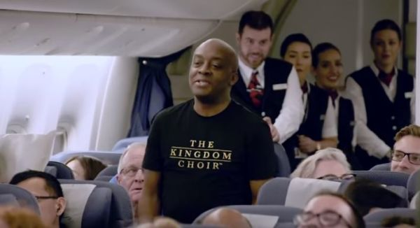 """Kingdom Choir Takes Over Flight And Sings """"Stand By Me""""."""