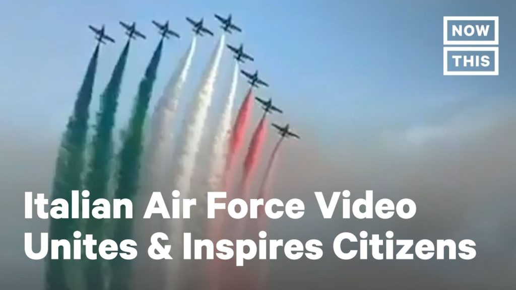 Italian Airforce Unites And Inspires It's Citizens During The Covid Outbreak