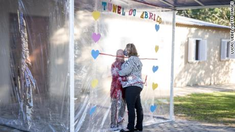 Brazilian Nursing Home Invents Hug Tunnel So That Loved Ones Can Embrace Covid Patients Without Getting Infected