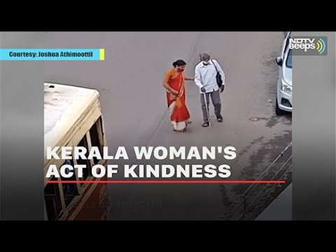 Kerala Woman Runs After Bus So A Blind Man Can Board